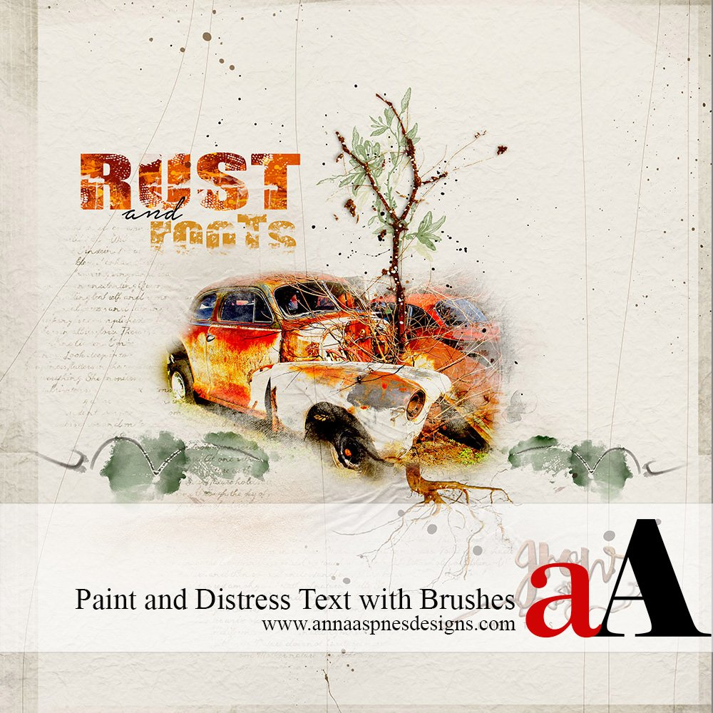 Tutorial | Paint and Distress Text with Brushes