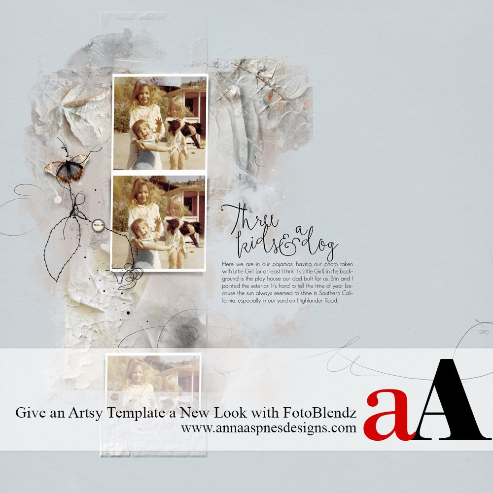 Tutorial | Give an Artsy Template a New Look with FotoBlendz