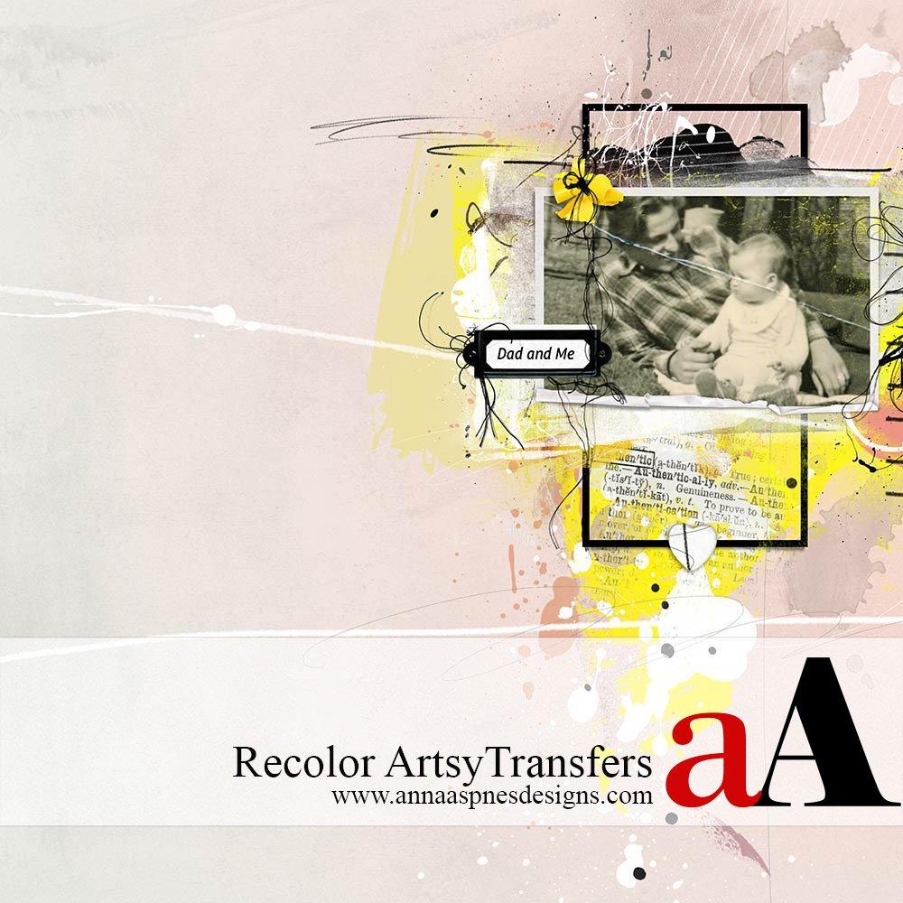 Recolor ArtsyTransfers in Adobe Photoshop Tutorial