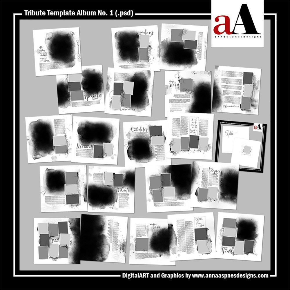 Tribute Photo Book Template Album