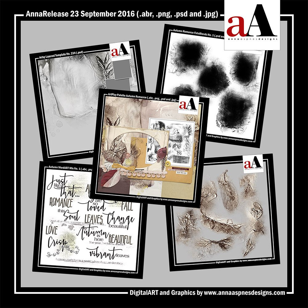 New Artsy Digital Designs Autumn Romance