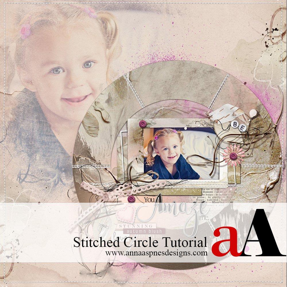 Custom Shapes Stitched Circle Tutorial