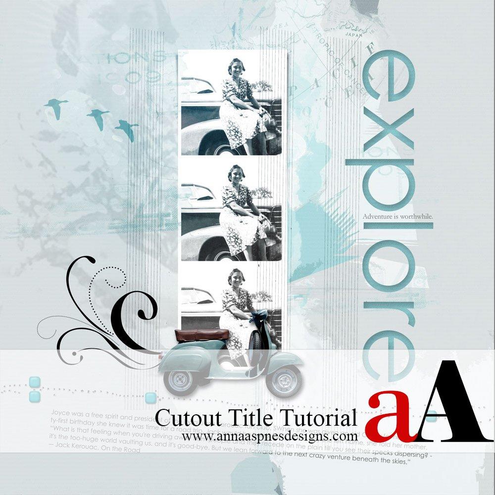 Adobe Photoshop Cutout Title Tutorial