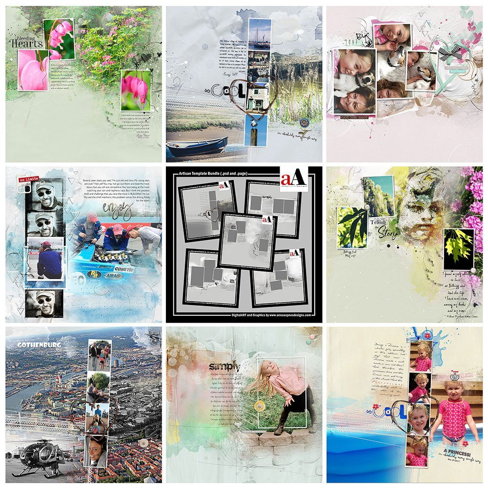 Digital Designs Inspiration Artisan Template Bundle