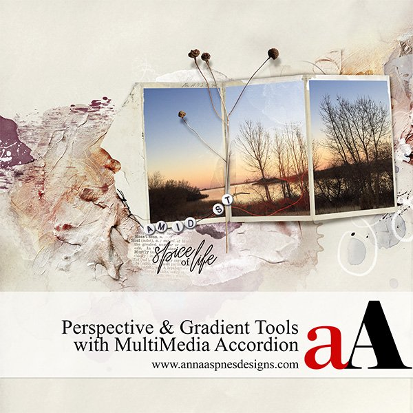 Perspective and Gradients with Accordion Frames