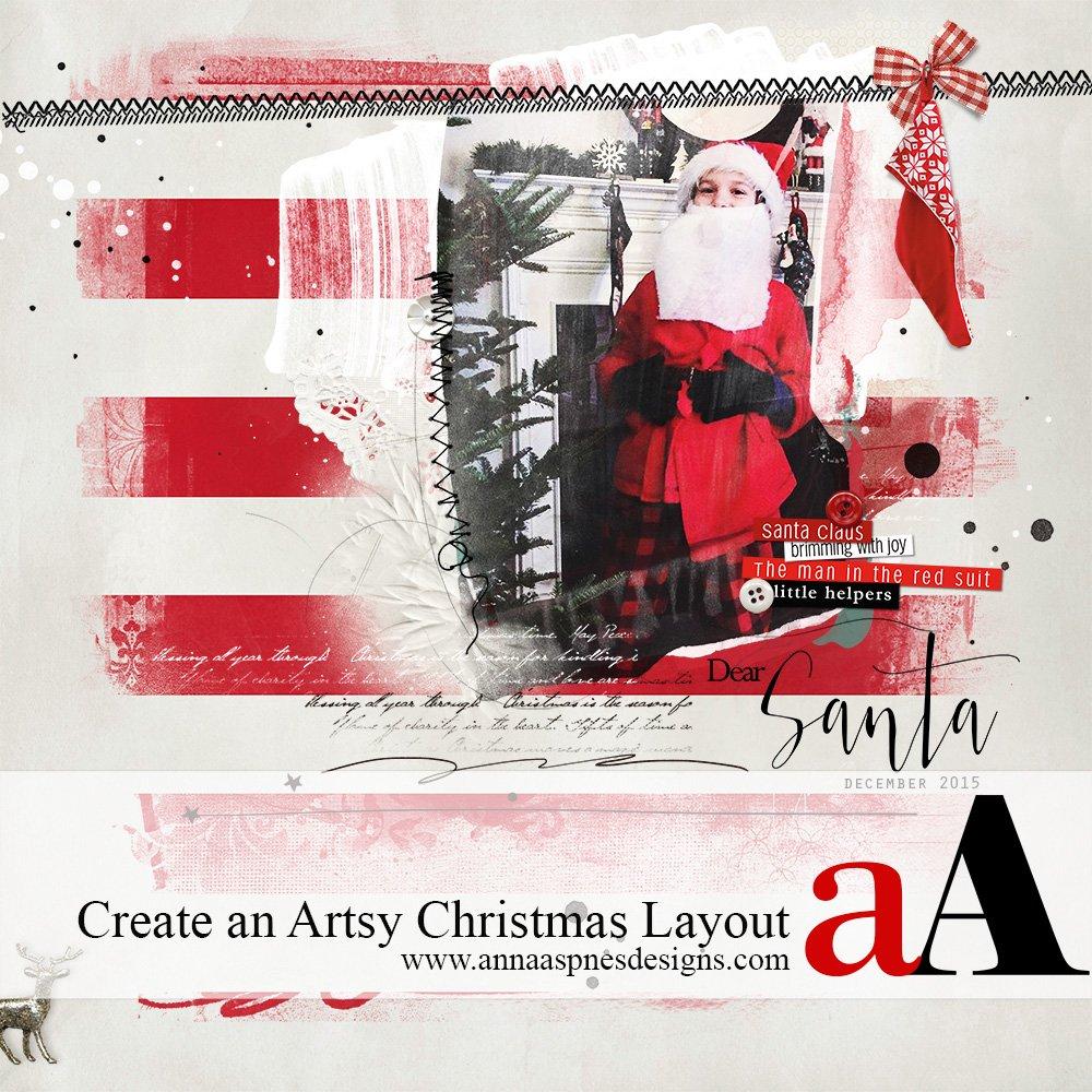 Create an Artsy Christmas Layout