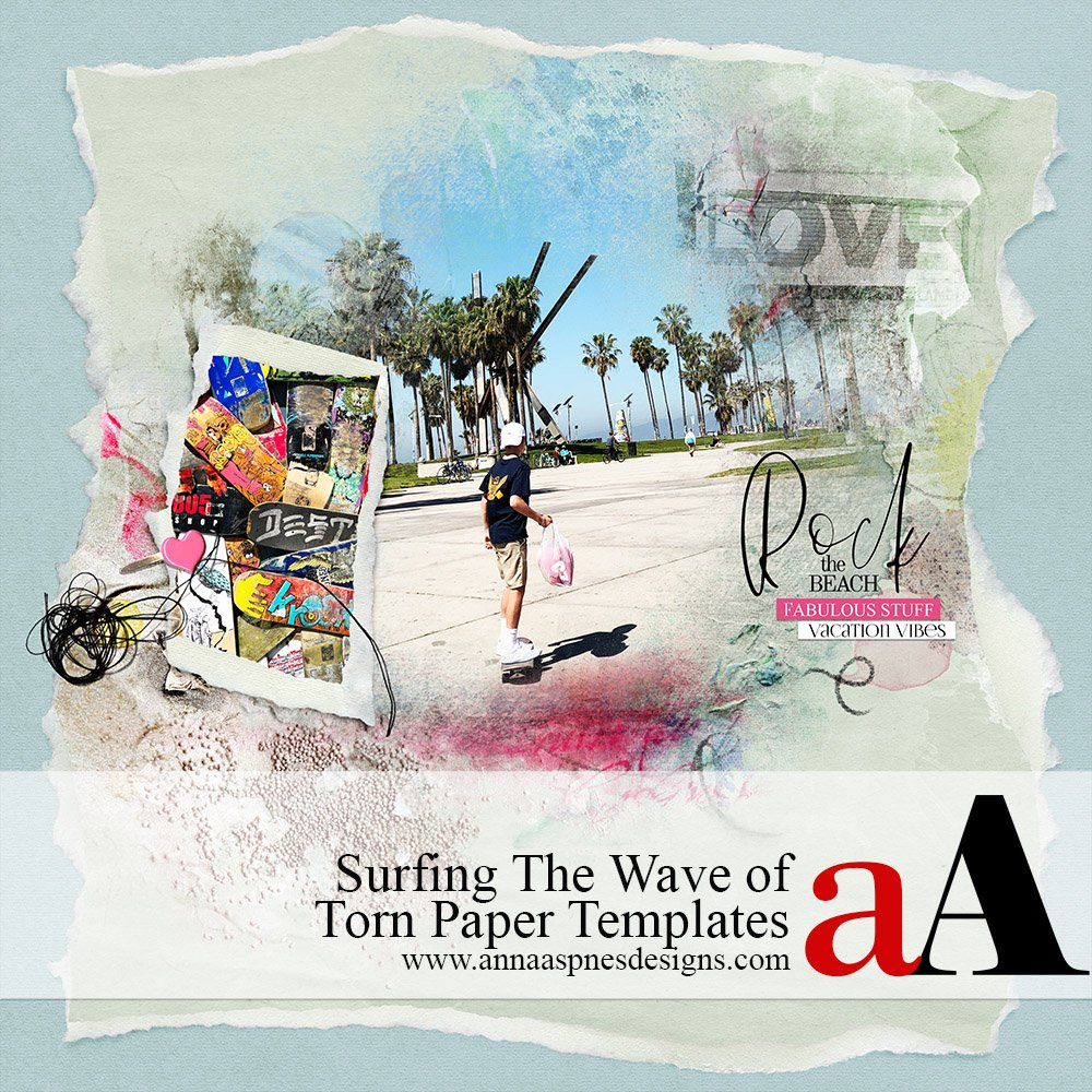 Surfing The Wave of Torn Paper Templates Video