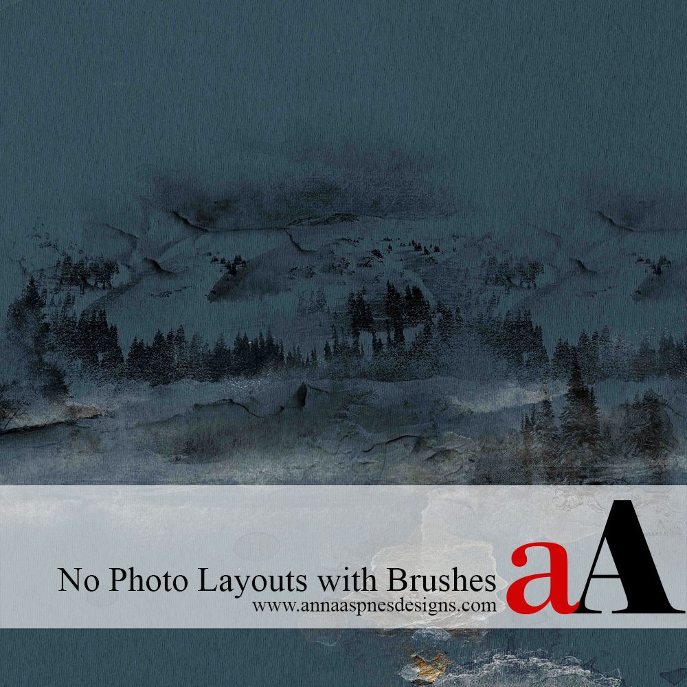 No Photo Layout with Brushes