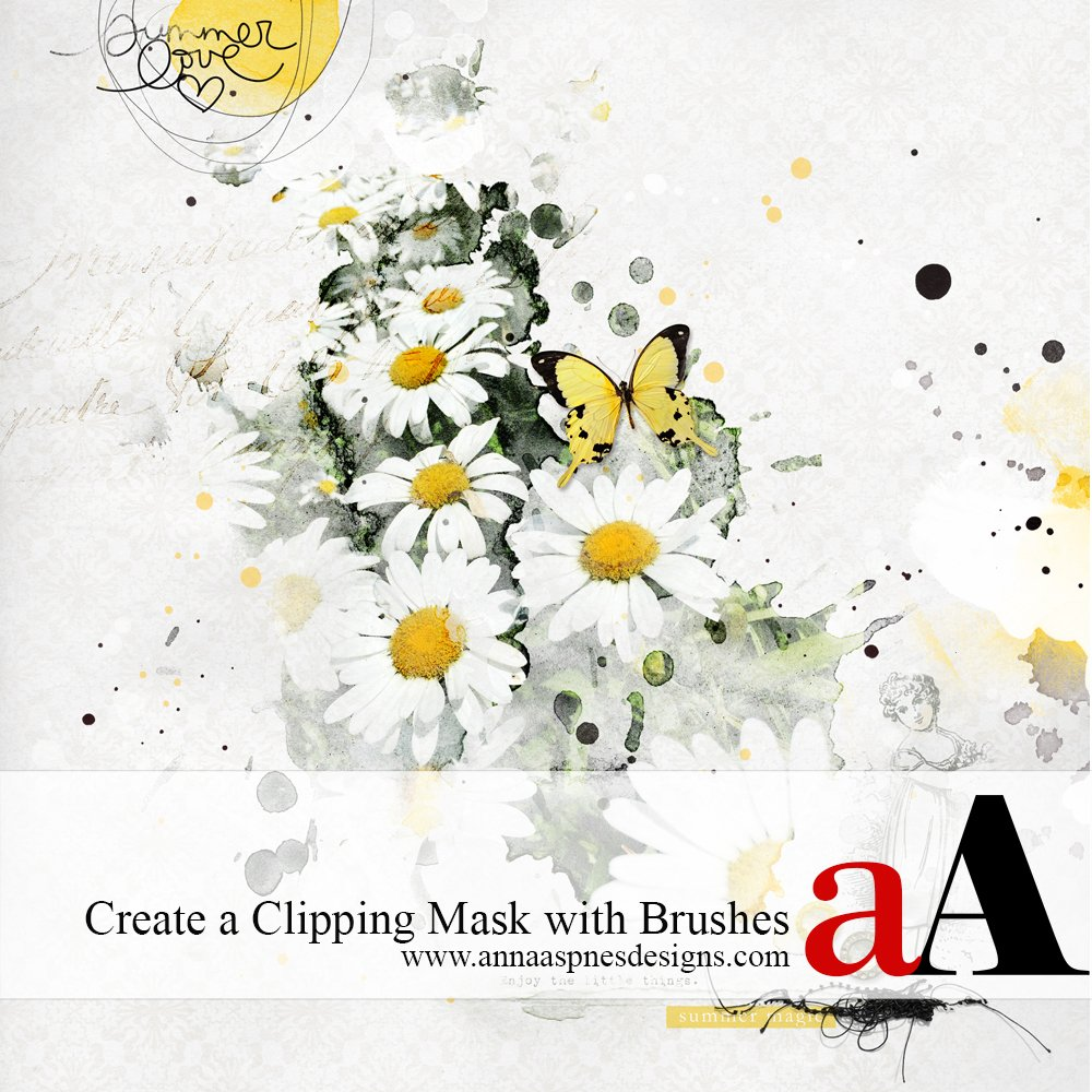 Create a Clipping Mask with Brushes
