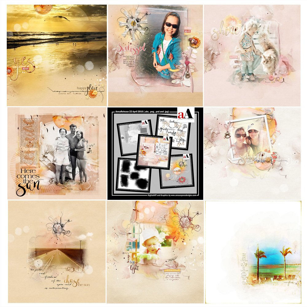 for artsy digital scrapbooking, photography, modern memory keeping and artistry in Adobe Photoshop/Elements.