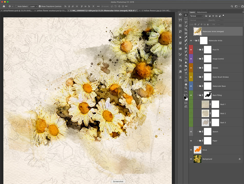 Adobe Create Action WaterColor Effect
