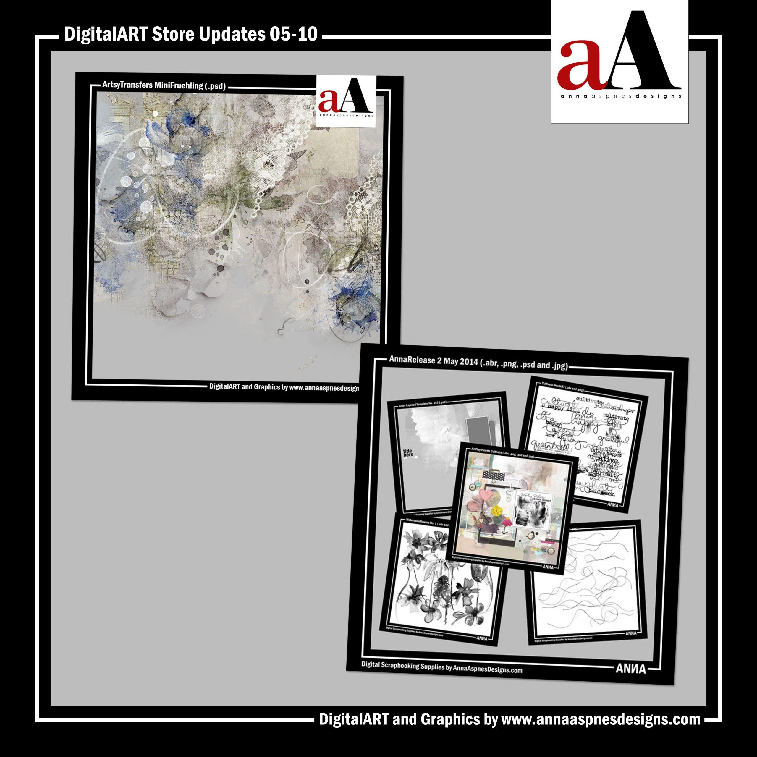aA DigitalART Store Updates 05-10