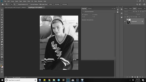 Combining New and Old Photos