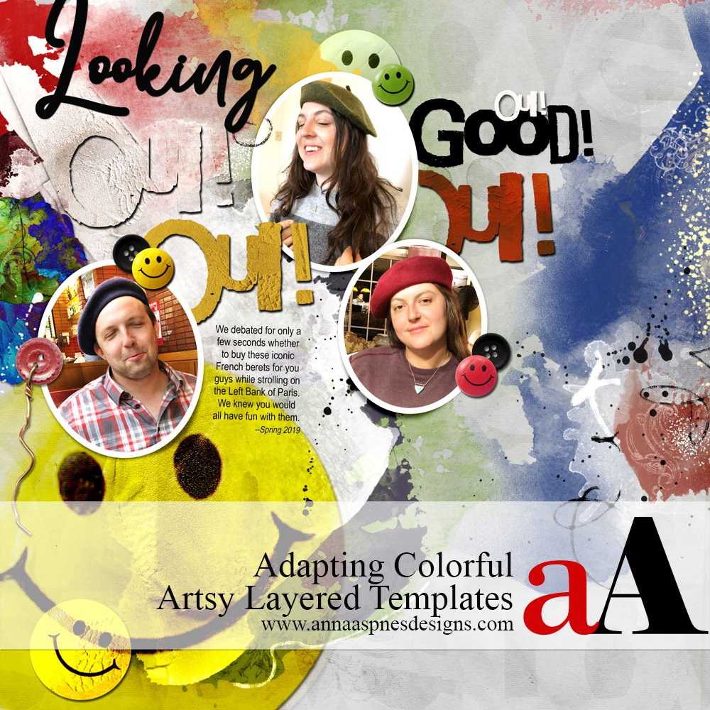 Adapting Colorful Artsy Layered Templates
