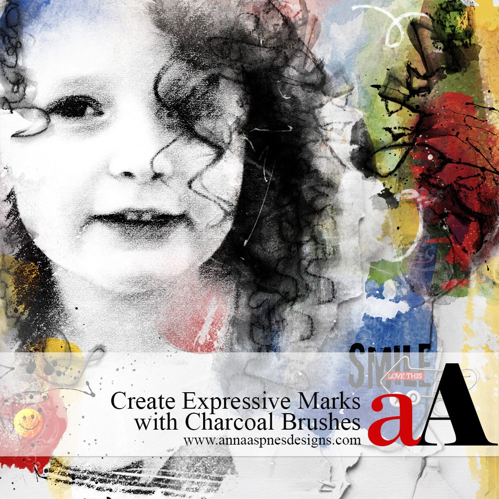 Create Expressive Marks with Charcoal Brushes
