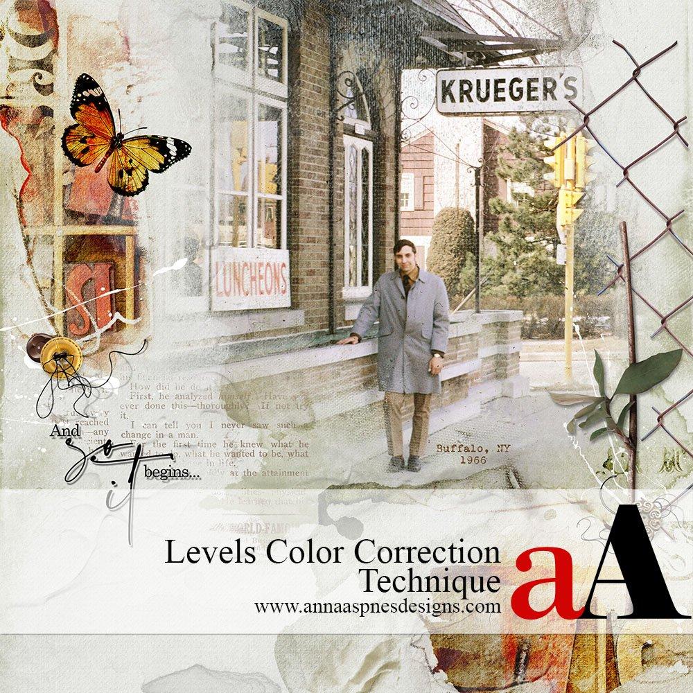 Levels Color Correction Technique