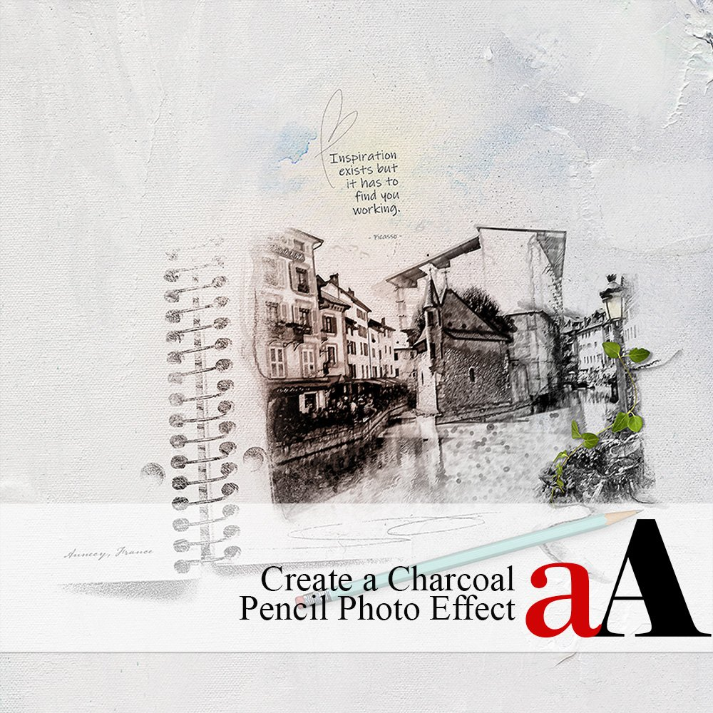 Create a Charcoal Pencil Photo Effect