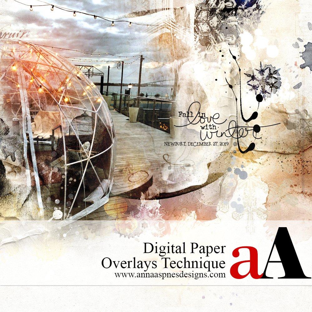 Digital Paper Overlays Technique