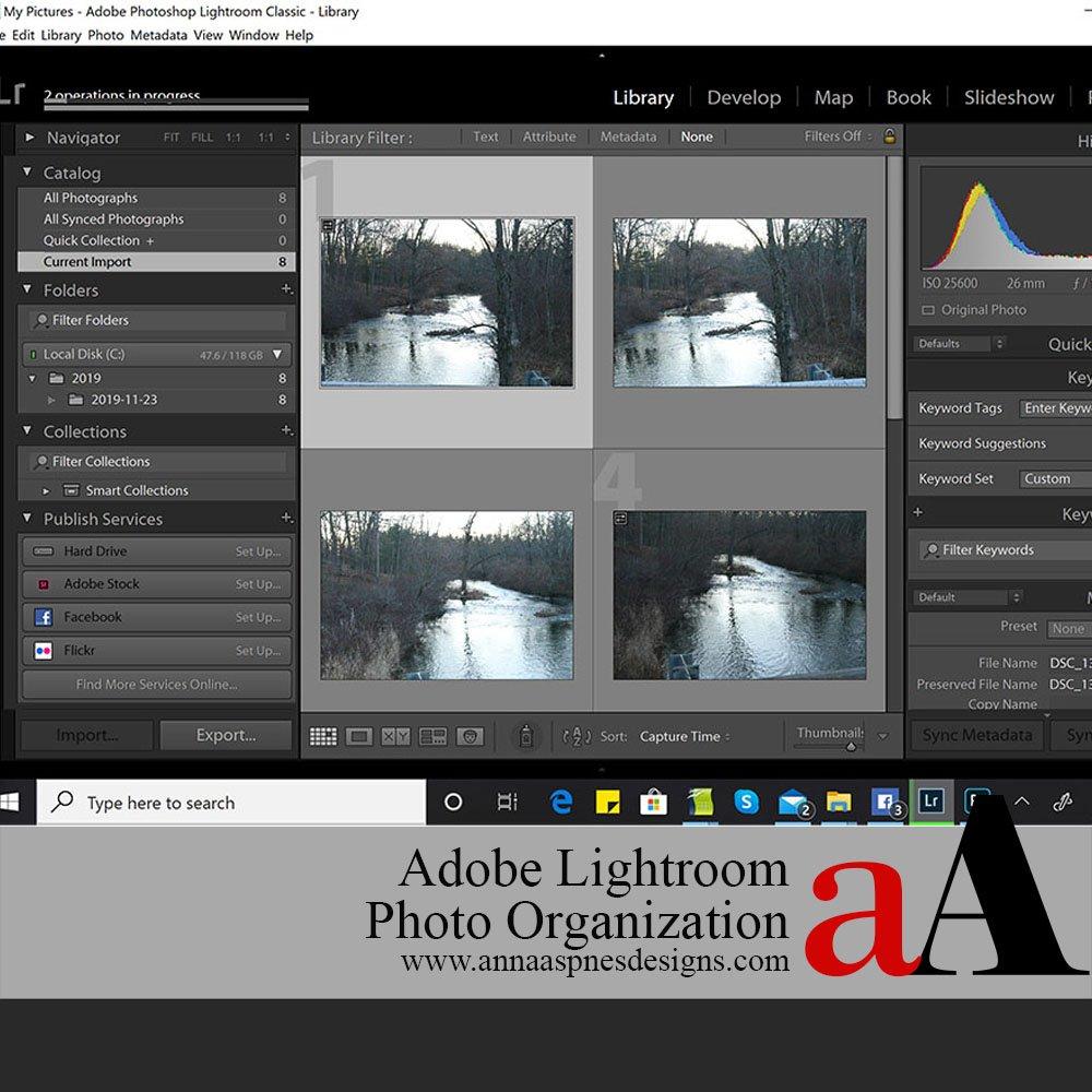 Adobe Lightroom Photo Organization