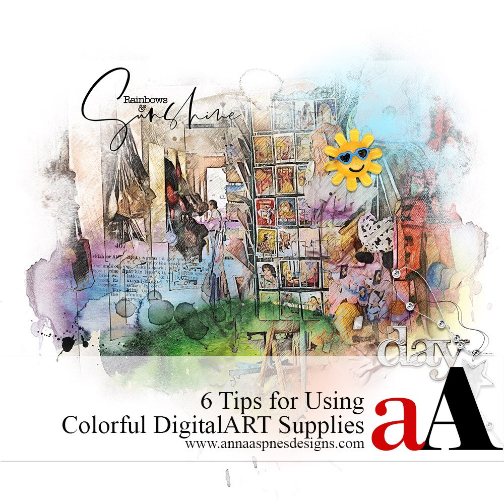 6 Tips for Using Colorful DigitalART Supplies