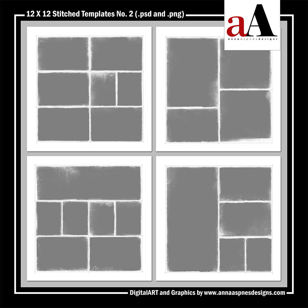 12 X 12 Stitched Templates No. 2 by Anna Aspnes Designs