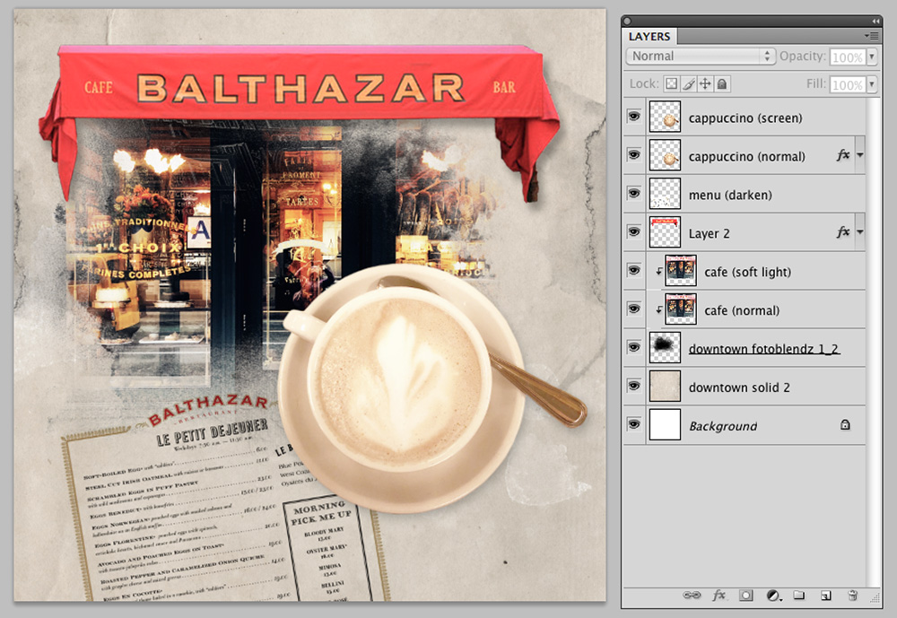 Extractions and Color Balance in Digital Scrapbooking Image 5