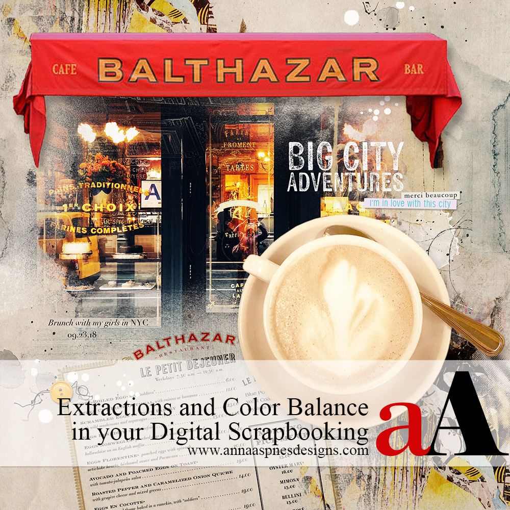 Extractions and Color Balance in Digital Scrapbooking