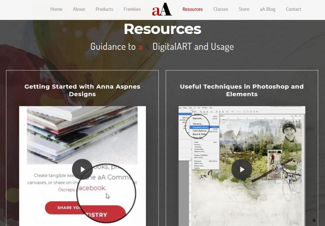 A Beginner's Guide to Digital Scrapbooking Additional Resources