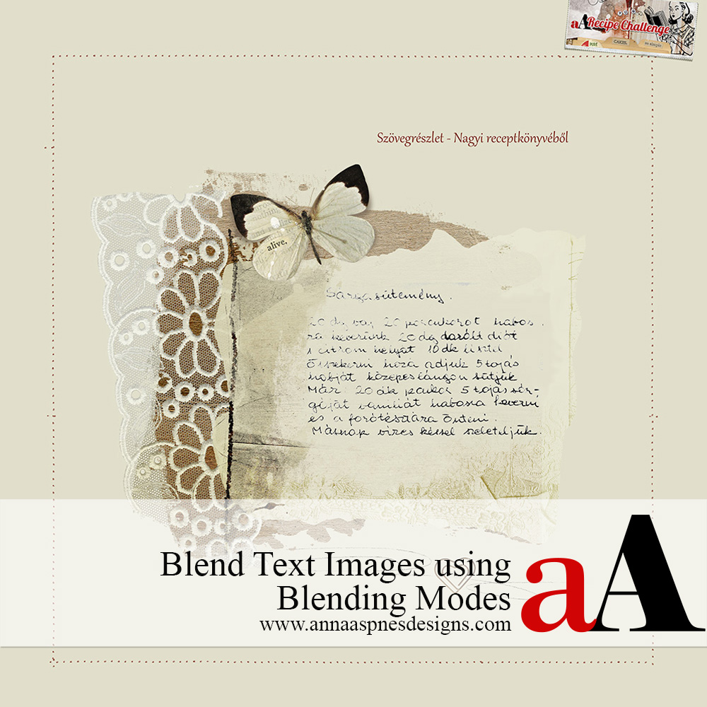 Blend Text Images using Blending Modes