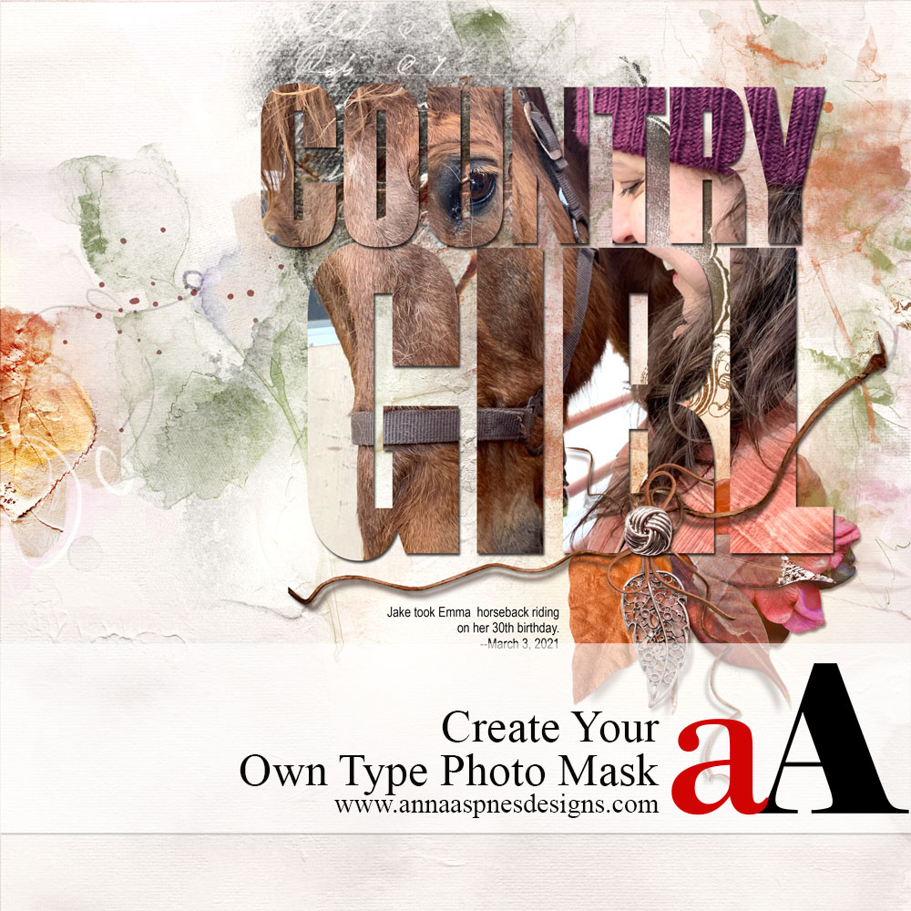 Create Your Own Type Photo Mask