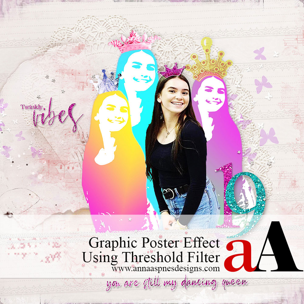 Graphic Poster Effect Using Threshold Filter