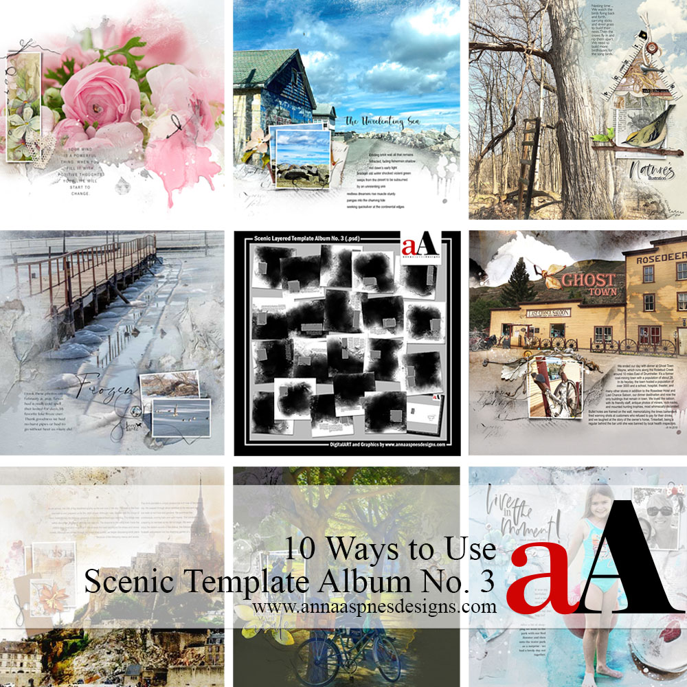10 Ways to Use Scenic Template Album No. 3