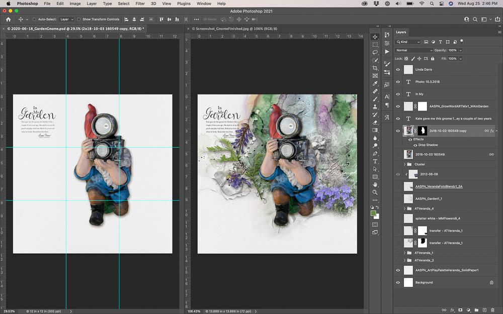 Using Guides in Digital Scrapbooking Layout Design
