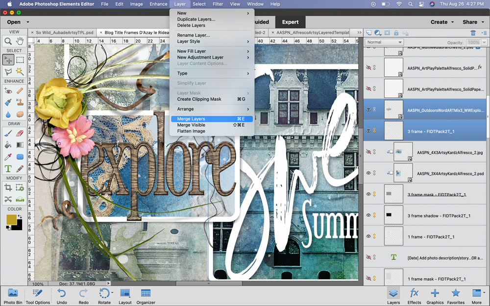 Create Your Own WordART Frame Titles